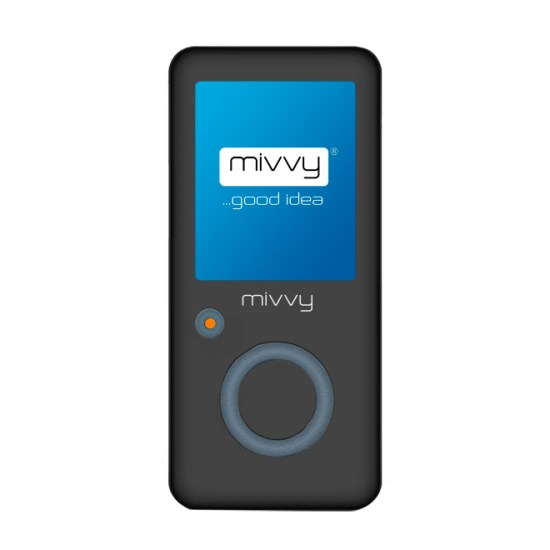 Mivvy Record H4 2GB, Micro SD Slot, Black