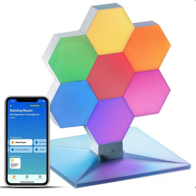 Modulárne smart osvetlenie Cololight Plus HomeKit, základňa so 7 blokmi