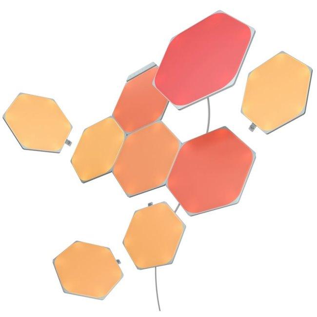 Modulárne smart osvetlenie Nanoleaf Shapes Hexagons Starter Kit, 9 panelov