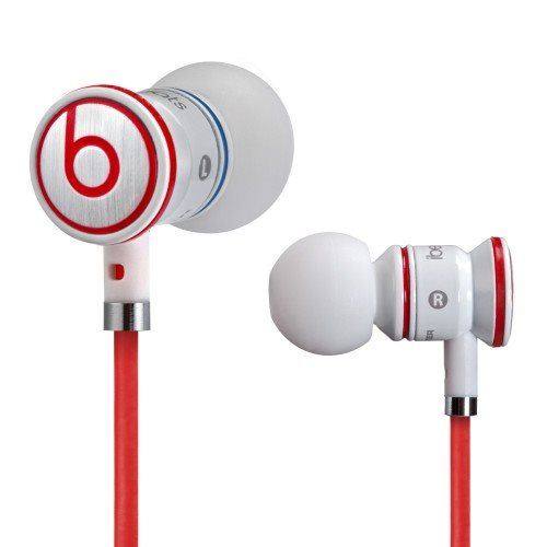 Monster iBeats by Dr.Dre - k�blov� Headset, WhiteRed