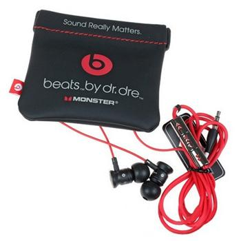 Monster Urbeats by DR.Dre - k�blov� Headset, White/Red