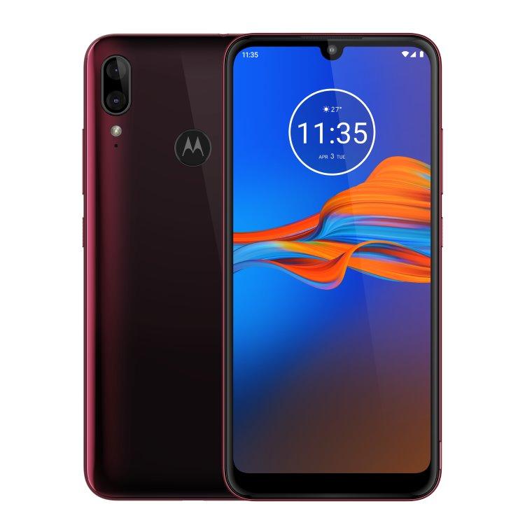 Motorola Moto E6 Plus, 4/64GB, Dual SIM, Cranberry - SK distribúcia