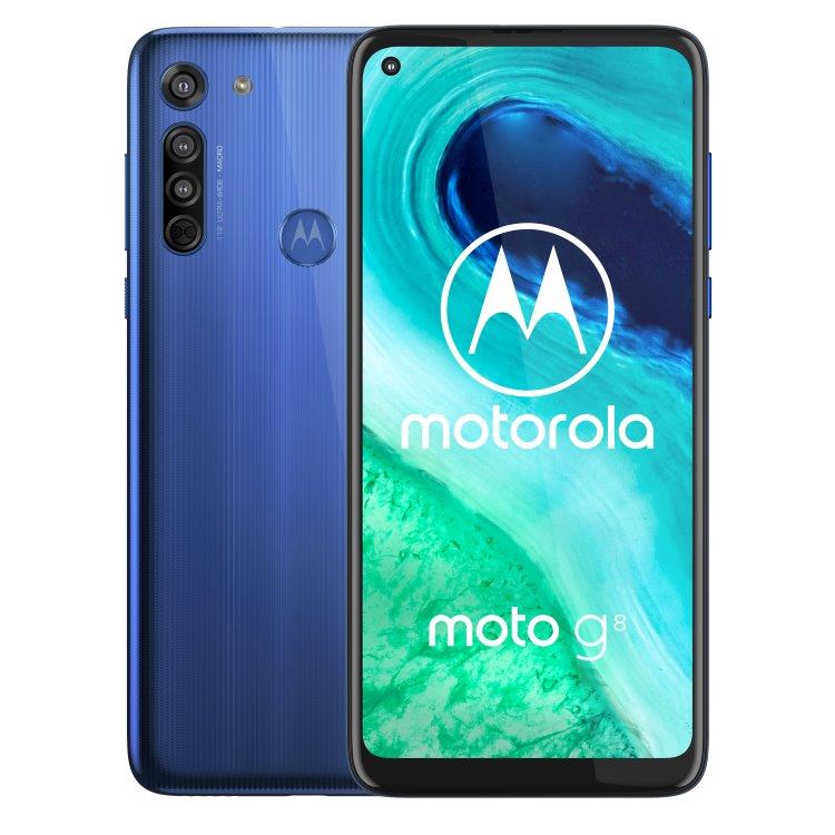 Motorola Moto G8, Dual SIM, Neon Blue - SK distribúcia