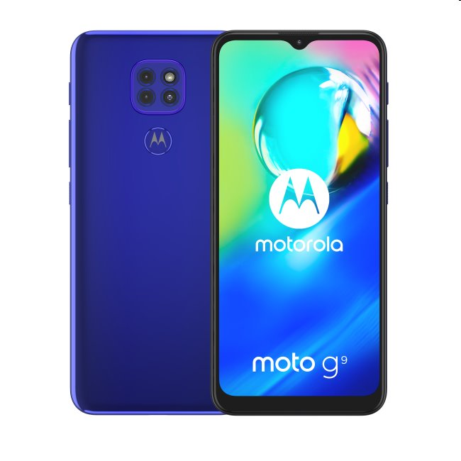 Motorola Moto G9 Play, 4/64GB, Dual SIM, Electric Blue - SK distribúcia