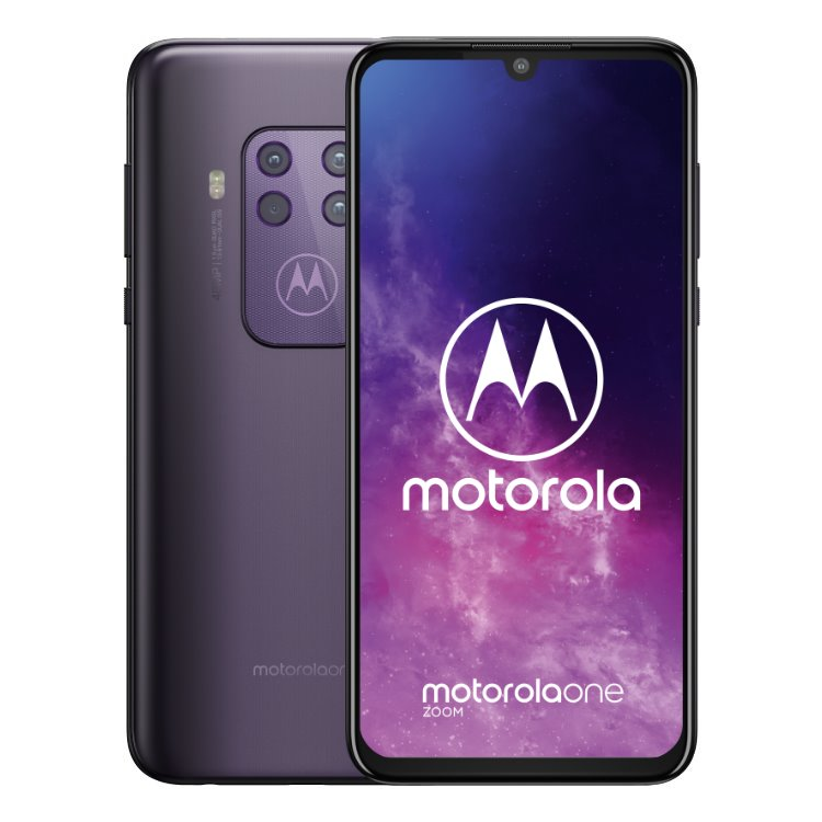 Motorola One Zoom, 4/128GB, Dual SIM, Purple - SK distribúcia