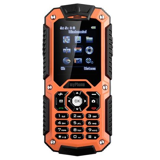 myPhone Hammer, Dual SIM, Orange - SK distrib�cia