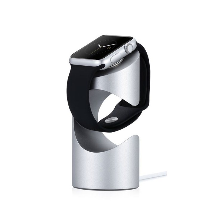 Nab�jac� stojan pre Apple Watch, Just Mobile TimeStand, Silver