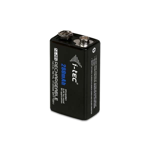 Nabíjacia batéria typ 9V, i-TEC Ni-MH 280mAh, 1 kus