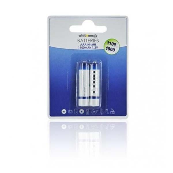 Nabíjacia mikrotužková batéria AAA, White Energy 1100 mAh Ni-MH, 2 kusy