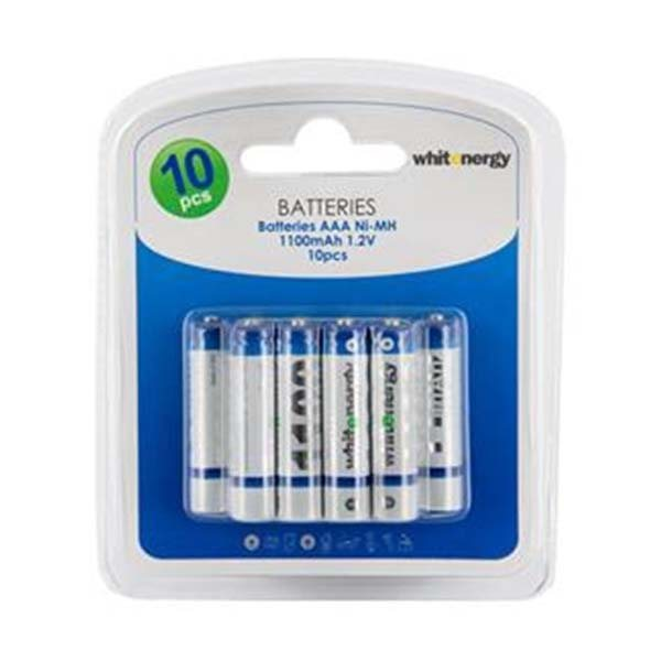 Nabíjacia mikrotužková batéria AAA, White Energy 1100mAh Ni-MH, 10 kusov
