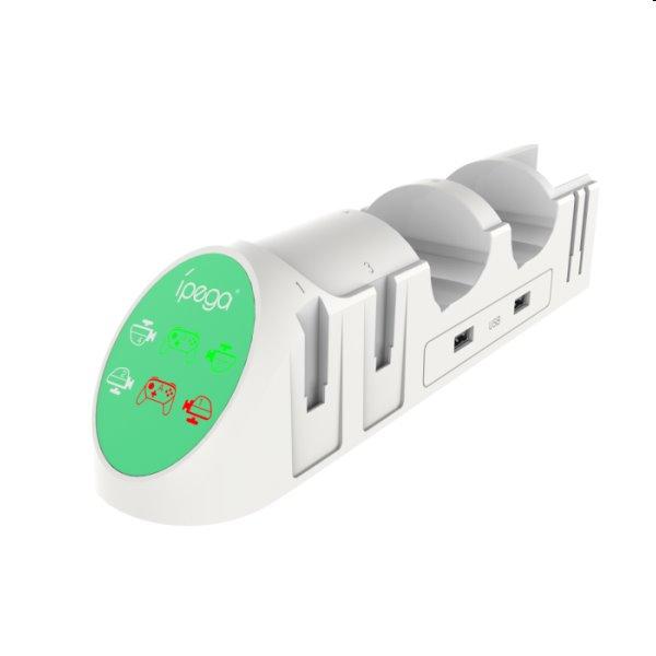 Nabíjacia stanica iPega 9187 pre Nintendo Switch PRO Controller a Joy-con, white