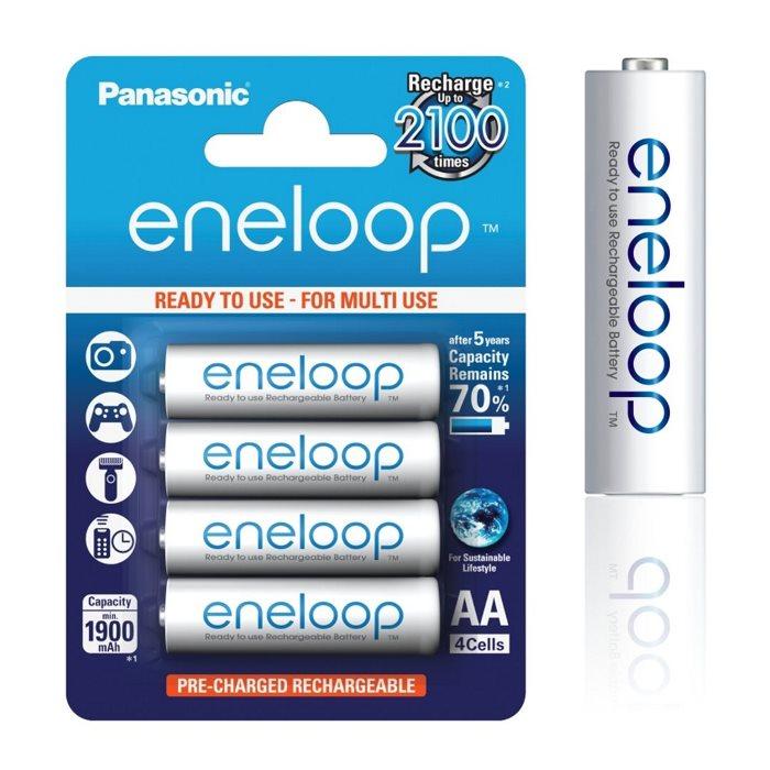 Nabíjacia tužková batéria AA, Panasonic Eneloop NiMh 1,2V 1900mAh 2100c, 4 kusy