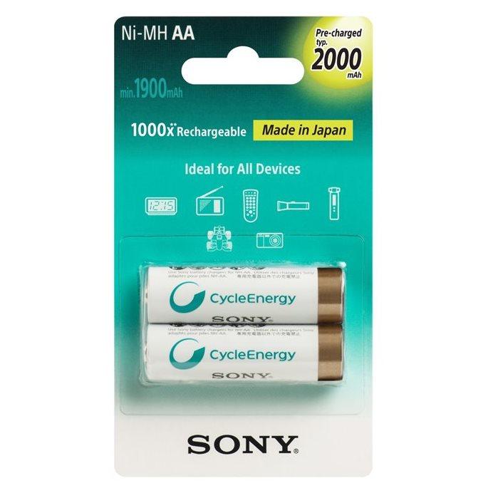 Nabíjacia tužková batéria AA, Sony NiMH 2000mAh, 2 kusy