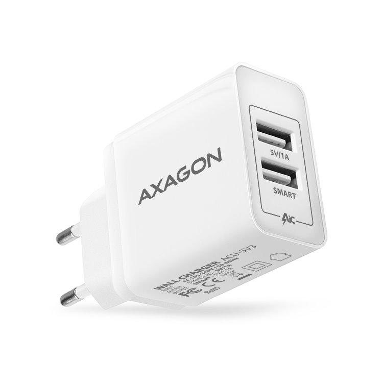 Nabíjačka AXAGON ACU-5V3 - 15W, White ACU-5V3