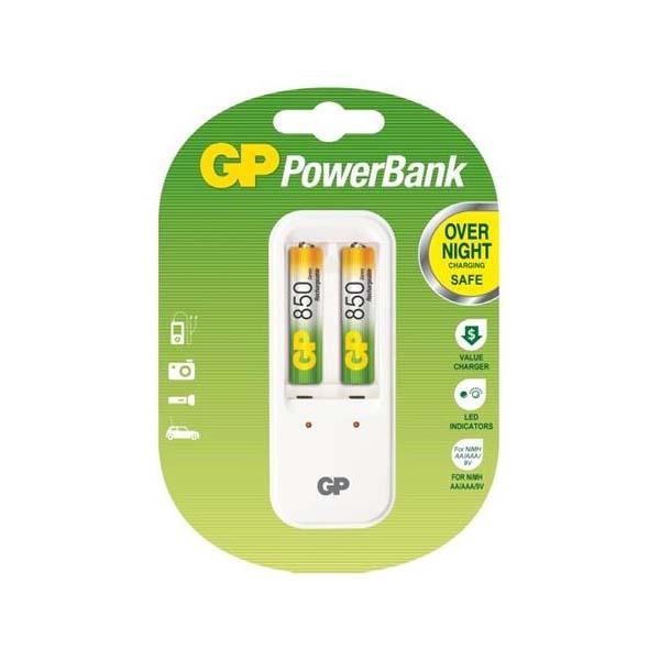 Nabíjačka batérií, GP PB410 + 2x AAA NiMH 850mAh