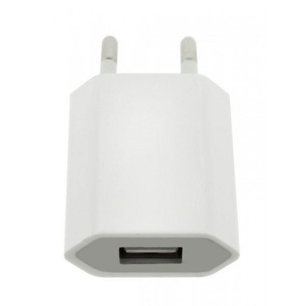 Nabíjačka Travel - home charger pre Váš smartfón - USB, 220V - 1AMP, White