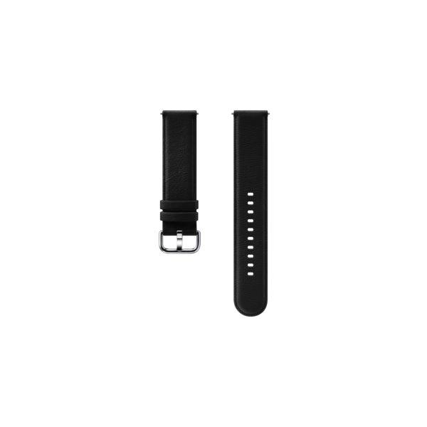 Náhradný kožený remienok Samsung ET-SLR82M (20mm) pre Samsung Galaxy Watch Active 2, Black