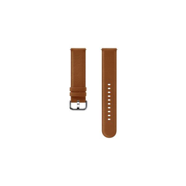 Náhradný kožený remienok Samsung ET-SLR82M (20mm) pre Samsung Galaxy Watch Active 2, Brown