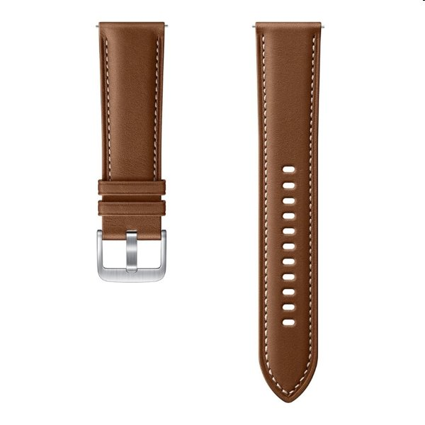 Náhradný kožený remienok Samsung ET-SLR84L (22mm) pre Samsung Galaxy Watch 3 SM-R840, brown