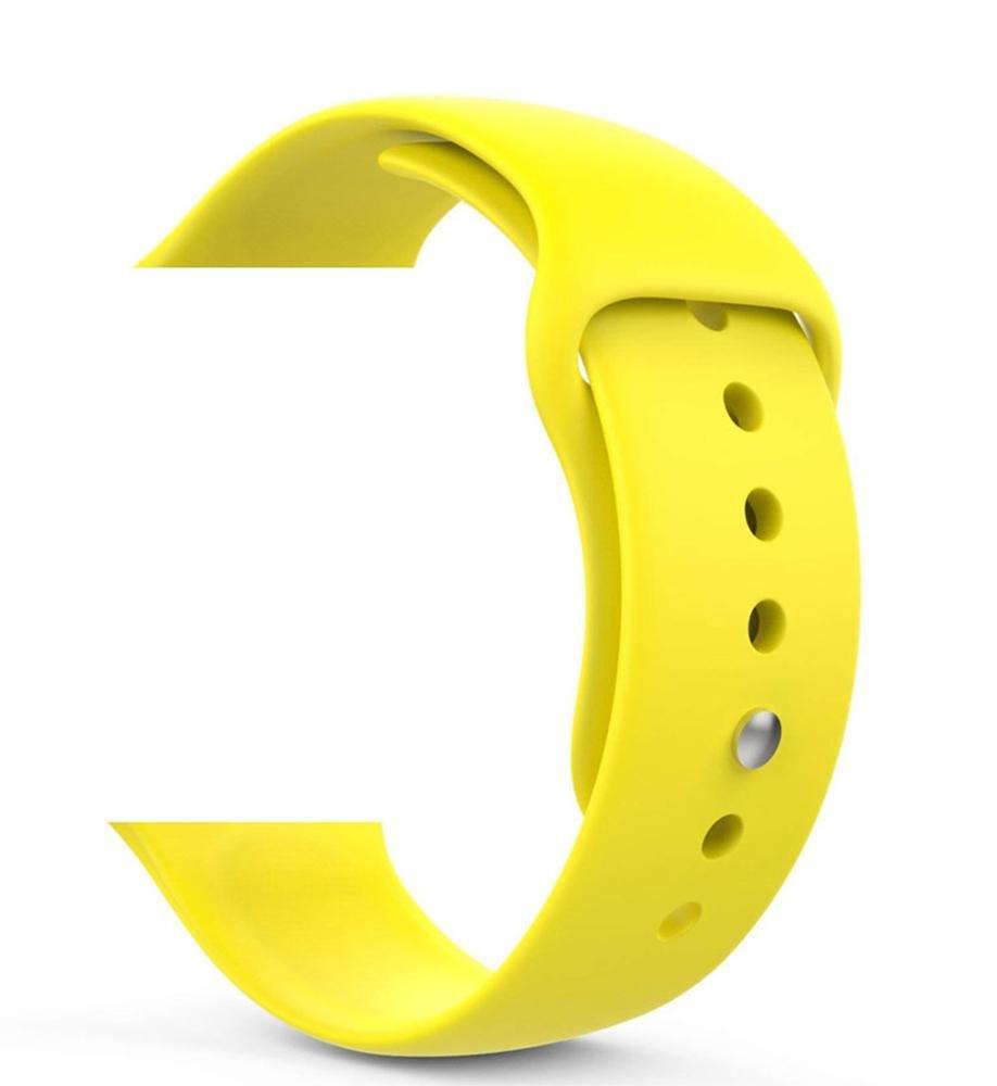 Náhradný remienok pre Apple Watch Series 2/3/4, 42/44mm, yellow