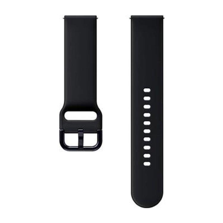 Náhradný silikónový remienok Samsung ET-SFR82M (20mm) pre Samsung Galaxy Watch Active 2, Aqua Black