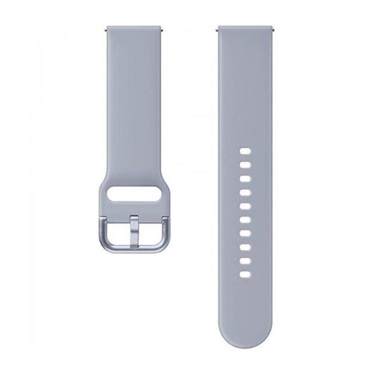 Náhradný silikónový remienok Samsung ET-SFR82M (20mm) pre Samsung Galaxy Watch Active 2, Cloud Silver