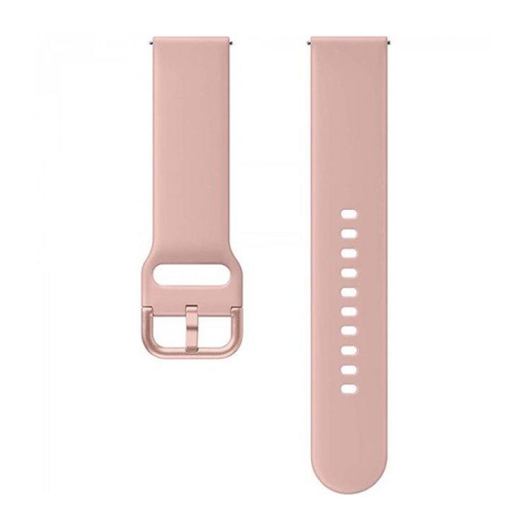 Náhradný silikónový remienok Samsung ET-SFR82M (20mm) pre Samsung Galaxy Watch Active 2, Gold Pink
