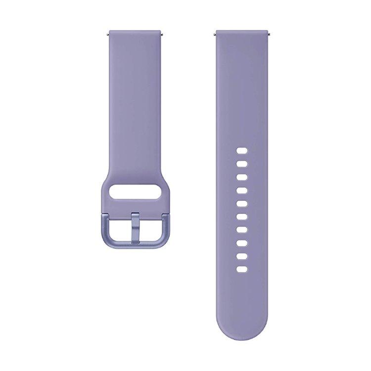 Náhradný silikónový remienok Samsung ET-SFR82M (20mm) pre Samsung Galaxy Watch Active 2, Violet