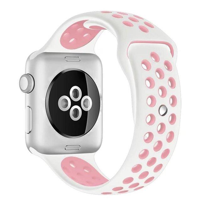 Náhradný športový remienok pre Apple Watch 38/40mm, white/pink