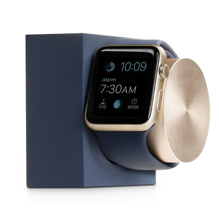 Native Union Dock Silicon - držiak pre Apple Watch, Marine Blue