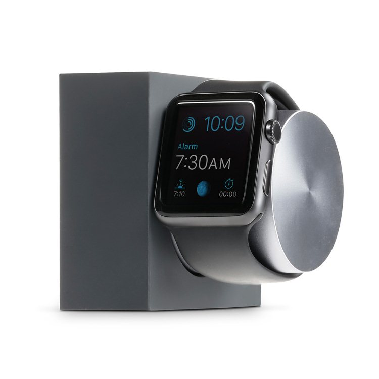 Native Union Dock Silicon - držiak pre Apple Watch, Space Gray