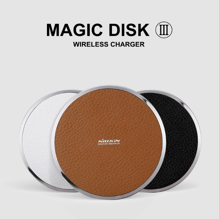 Nillkin Magic Disc III, bezdr�tov� dob�jacia podlo�ka, Brown