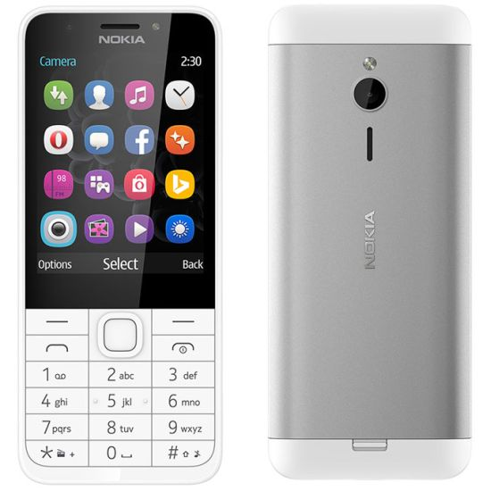 Nokia 230, Dual SIM, Silver - SK distribúcia