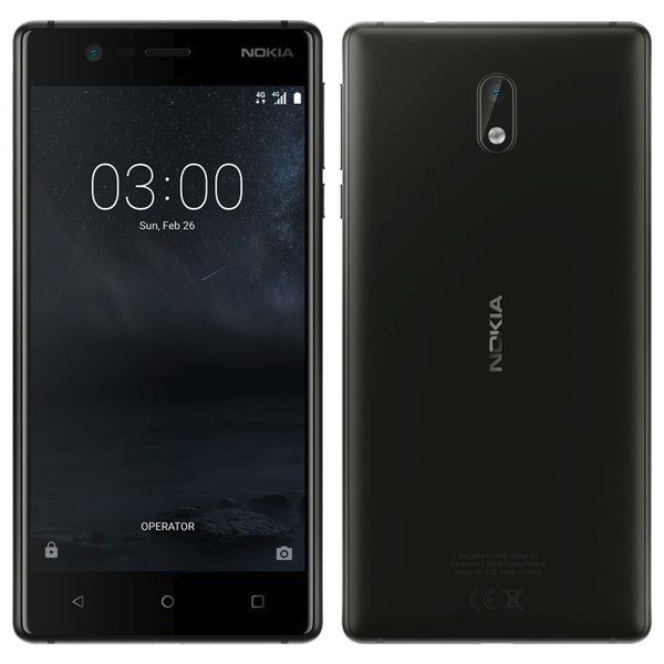 Nokia 3, Dual SIM, Black - SK distribúcia