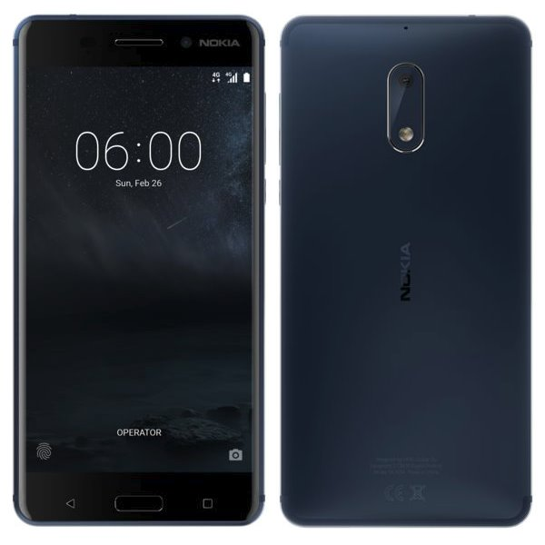 Nokia 6, Dual SIM, 32GB, Blue - SK distribúcia