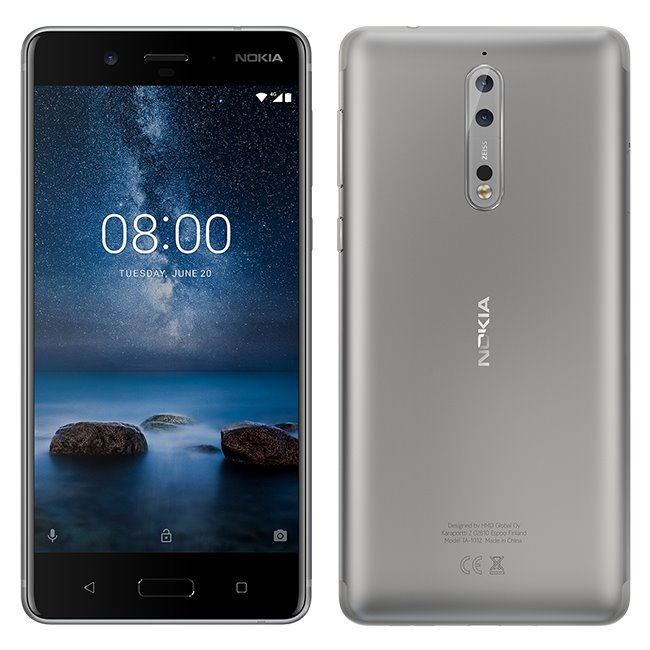 Nokia 8, Dual SIM, 64GB, Steel - SK distribúcia