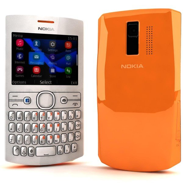 Nokia Asha 205, Orange-White - SK distrib�cia