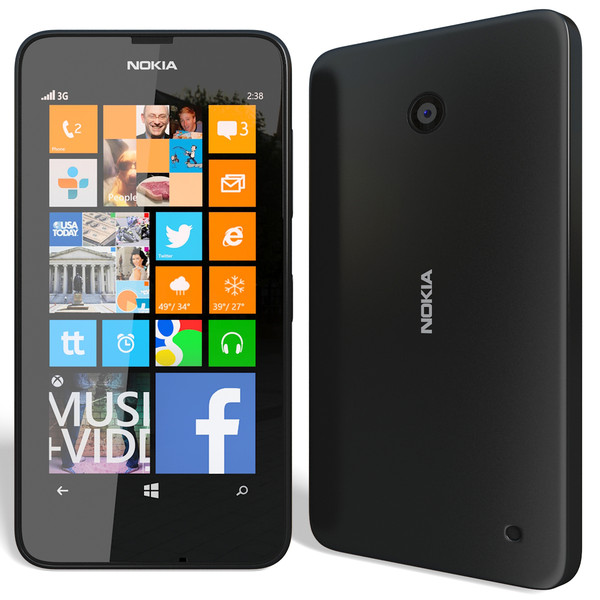Nokia Lumia 630, WindowsPhone 8.1, Dual SIM, Black - SK distrib�cia