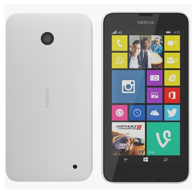 Nokia Lumia 630, WindowsPhone 8.1, Dual SIM, White - SK distrib�cia