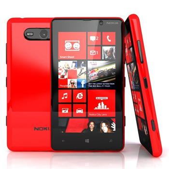 Nokia Lumia 820, WindowsPhone 8, Red