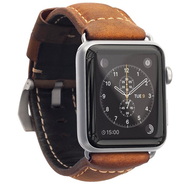 Nomad Rugged kožený remienok pre Apple Watch 42mm, TanSilver