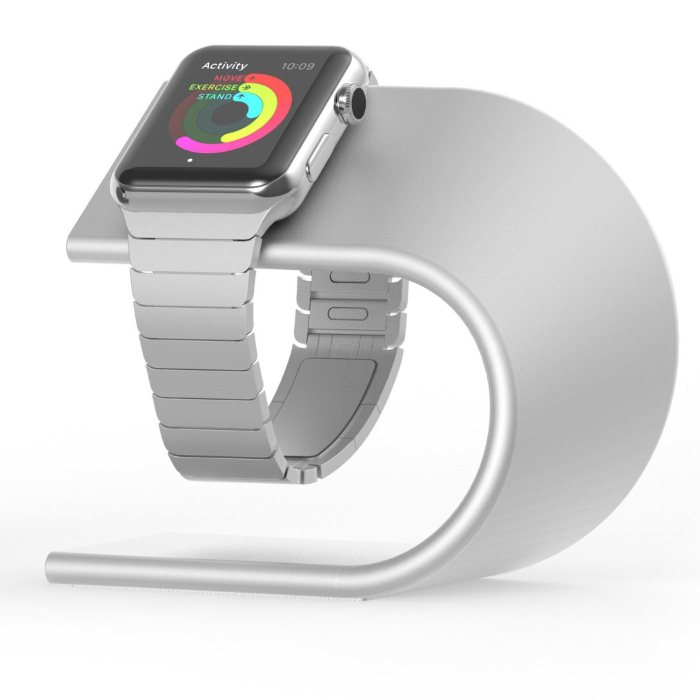 Nomad Stand - stojan pre Apple Watch, Silver