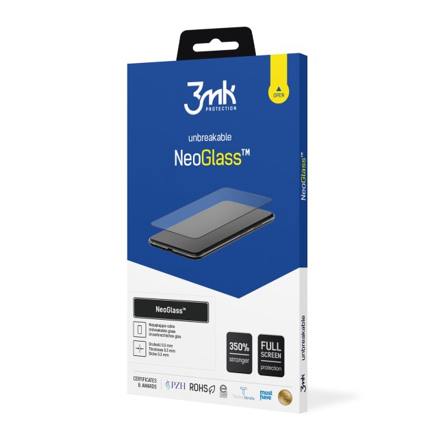 Ochranné sklo 3mk NeoGlass pre Apple iPhone 12/12 Pro, black
