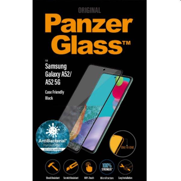 Ochranné sklo PanzerGlass Case Friendly AB for Samsung Galaxy A52 - A525F, čierne