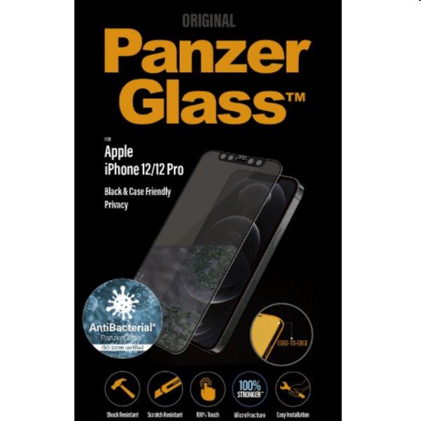 Ochranné sklo PanzerGlass Case Friendly AB pre Apple iPhone 12 Pro, čierne