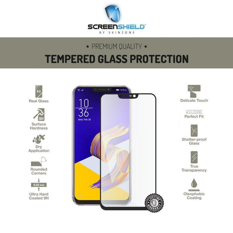 Ochranné sklo Screenshield 3D pre Asus ZenFone 5Z - ZS620KL - Full Cover Black - Doživotná záruka ASU-TG25DBZS620KL-D
