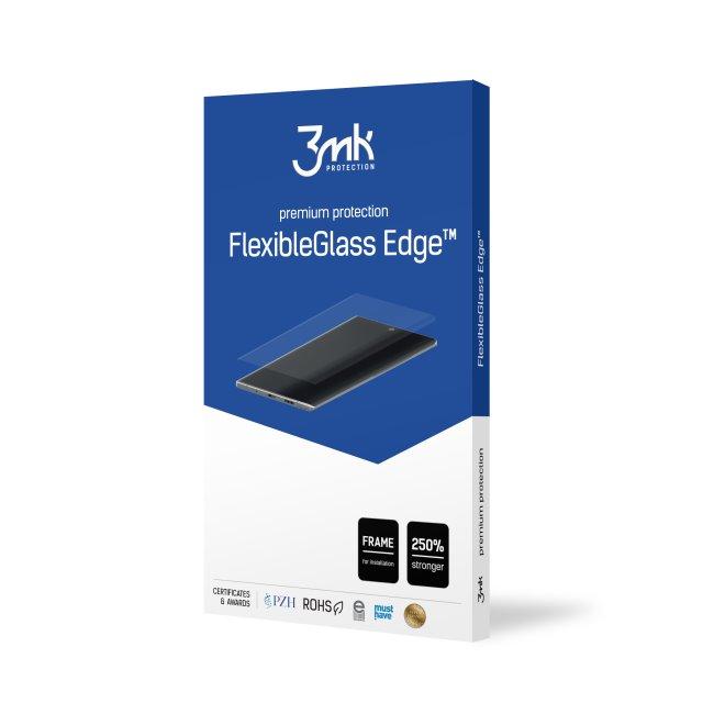 Ochranné hybridné sklo 3mk FlexibleGlass Edge pre Samsung Galaxy Note 10, čierne 3MK173216