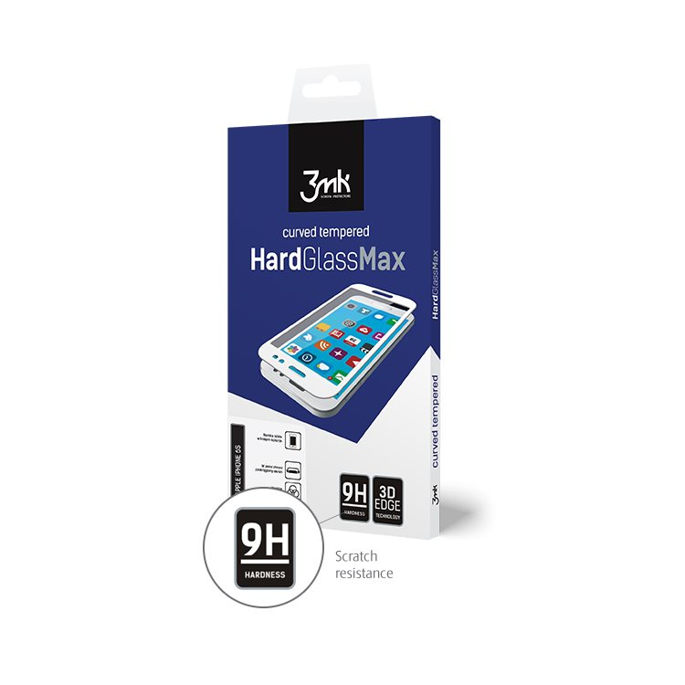 Ochranné temperované sklo 3mk HardGlass Max 3D pre Apple iPhone Xr, čierne