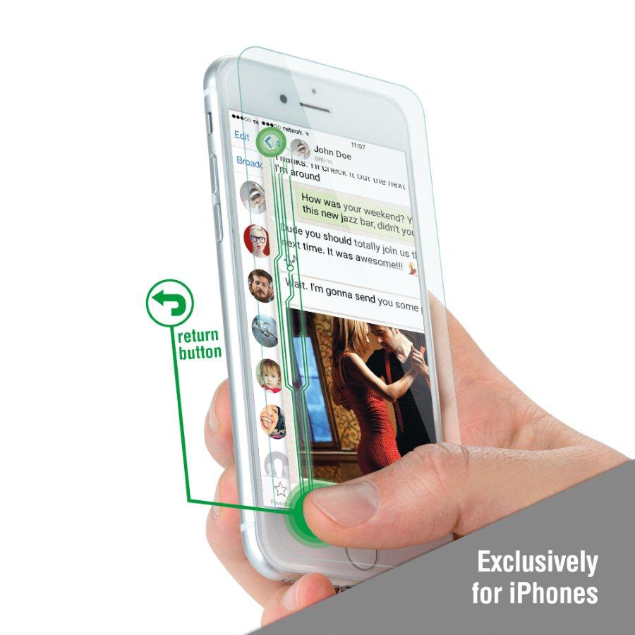 Ochranné temperované sklo 4Smarts - Smart Buttons pre Apple iPhone 6 Plus, iPhone 6S Plus, iPhone 7 Plus a iPhone 8 Plus