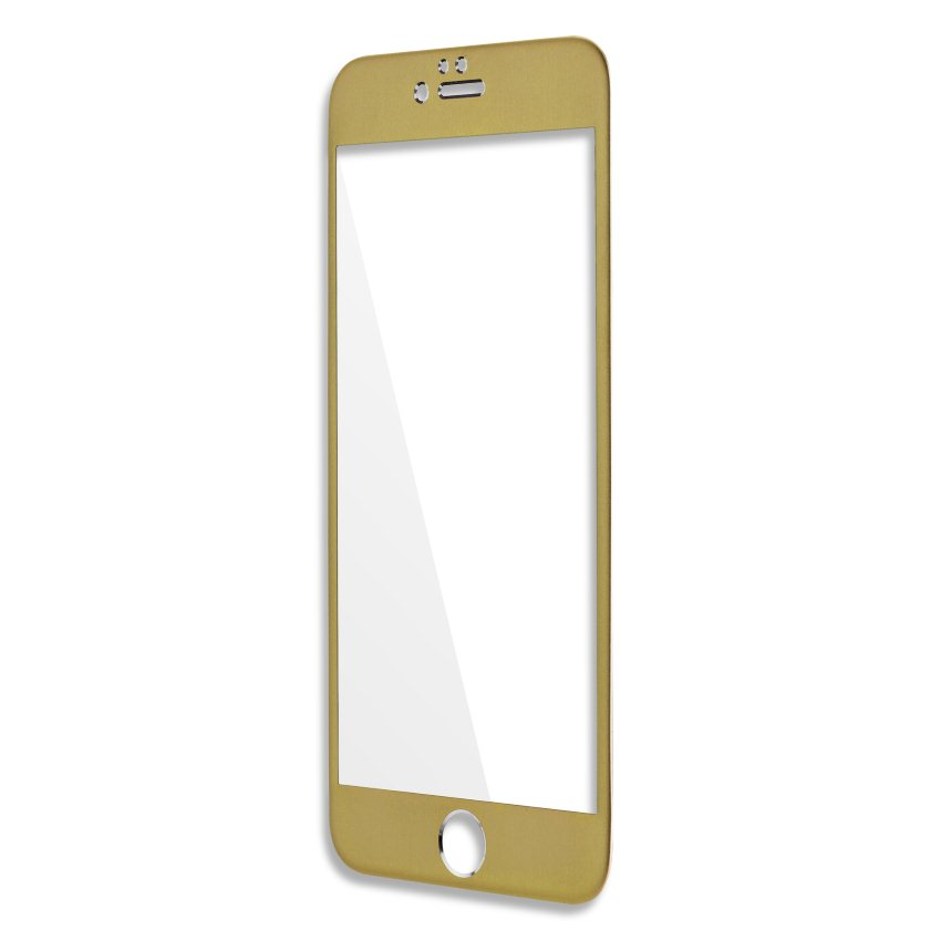 Ochranné temperované sklo Aluminium Frame 4Smarts pre Apple iPhone 6,  Apple iPhone 6S, Gold